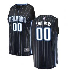 Men's Orlando Magic Fanatics Branded Black Fast Break Custom Replica Jersey - Statement Edition