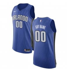 Men's Orlando Magic Nike Royal Authentic Custom Jersey - Icon Edition
