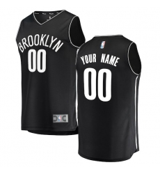 Men's Brooklyn Nets Fanatics Branded Black Fast Break Custom Replica Jersey - Icon Edition
