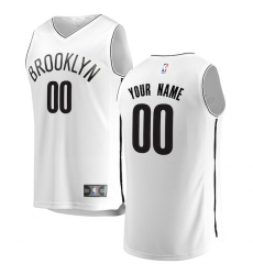 Men's Brooklyn Nets Fanatics Branded White Fast Break Custom Replica Jersey - Association Edition