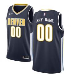 Men's Denver Nuggets Nike Navy Swingman Custom Jersey - Icon Edition