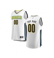 Youth Denver Nuggets Fanatics Branded White Fast Break Custom Replica Jersey - Association Edition