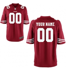 Youth San Francisco 49ers Nike Scarlet Custom Game Jersey