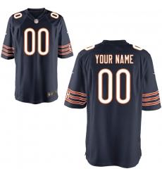 Men's Chicago Bears Nike Navy Custom Game Jersey