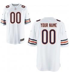 Nike Men's Chicago Bears Customized Game White Jersey