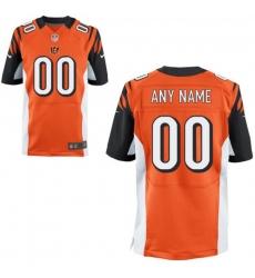 Men's Cincinnati Bengals Nike Orange Custom Elite Jersey