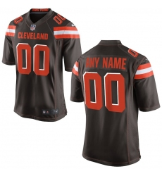 Men's Cleveland Browns Nike Brown Custom Game Jersey