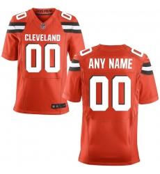 Men's Cleveland Browns Nike Orange Custom Alternate Elite Jersey