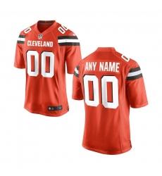 Nike Cleveland Browns Youth Orange Custom Game Jersey