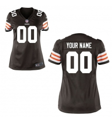Women's Cleveland Browns Historic Logo Nike Brown Custom Game Jersey