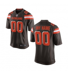 Youth Cleveland Browns Nike Brown Custom Game Jersey