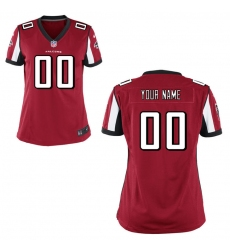 Women's Atlanta Falcons Nike Red Custom Game Jersey