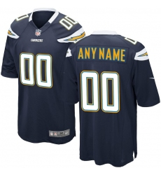 Men's Los Angeles Chargers Nike Navy Custom Game Jersey