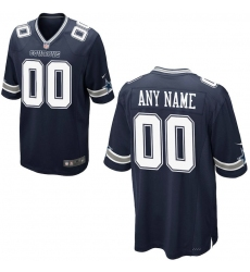 Men's Dallas Cowboys Nike Navy Custom Game Jersey