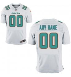 Men's Miami Dolphins Nike White Custom Elite Jersey