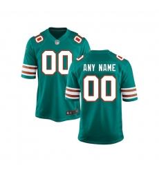 Youth Miami Dolphins Nike Aqua Custom Throwback Game Jersey