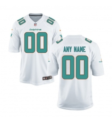 Youth Miami Dolphins Nike White Customized Game Jerse