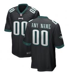 Men's Philadelphia Eagles Nike Black Alternate Replica Custom Game Jersey