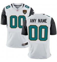 Men's Jacksonville Jaguars Nike White Custom Elite Jersey