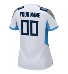 : Women's Tennessee Titans Nike White 2018 Custom Game Jersey
