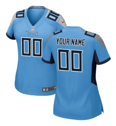 Women's Tennessee Titans Nike Light Blue 2018 Custom Game Jersey