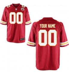 Youth Kansas City Chiefs Nike Red Custom Game Jersey