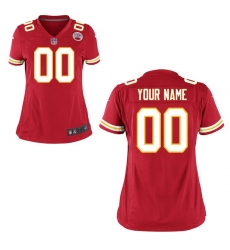 Women's Kansas City Chiefs Nike Red Custom Game Jersey