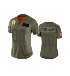 Women's Green Bay Packers Customized Camo 2019 Salute to Service Limited Jersey