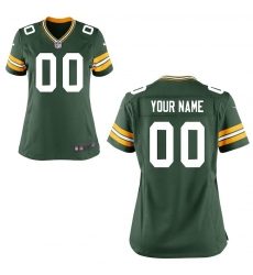 Women's Green Bay Packers Nike Green Custom Game Jersey