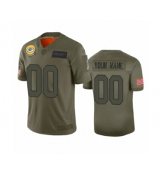 Youth Green Bay Packers Customized Camo 2019 Salute to Service Limited Jersey