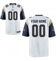 Nike Men's Los Angeles Rams Customized Game White Jersey