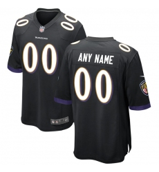 Men's Baltimore Ravens Nike Black Alternate Replica Custom Game Jersey