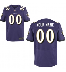 Men's Baltimore Ravens Nike Purple Custom Elite Jersey