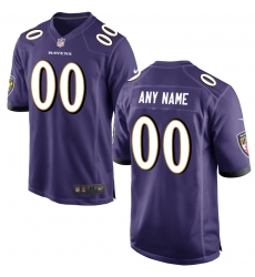 Men's Baltimore Ravens Nike Purple Custom Game Jersey