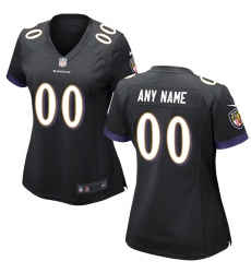 Women's Baltimore Ravens Nike Black Custom Game Jersey
