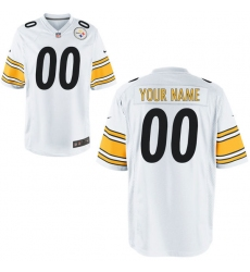 Nike Men's Pittsburgh Steelers Customized Game White Jersey