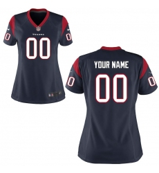 Women's Houston Texans Nike Navy Blue Custom Game Jersey