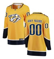 Women's Nashville Predators Fanatics Branded Yellow Home Breakaway Custom Jersey