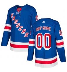 Men's New York Rangers adidas Royal Authentic Custom Jersey