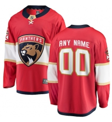 Men's Florida Panthers Fanatics Branded Red Home Breakaway Custom Jersey