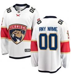 Men's Florida Panthers Fanatics Branded White Away Breakaway Custom Jersey