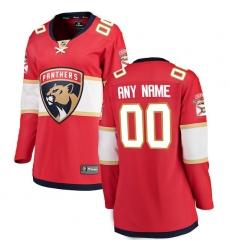 Women's Florida Panthers Fanatics Branded Red Home Breakaway Custom Jersey