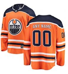 Men's Edmonton Oilers Fanatics Branded Orange Home Breakaway Custom Jersey