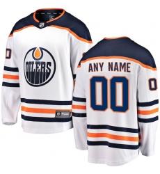 Men's Edmonton Oilers Fanatics Branded White Away Breakaway Custom Jersey