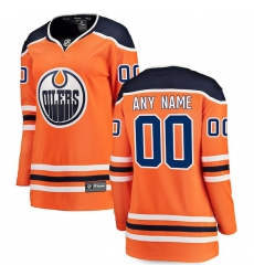 Women's Edmonton Oilers Fanatics Branded Orange Home Breakaway Custom Jersey