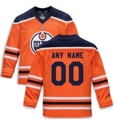 Youth Edmonton Oilers Fanatics Branded Orange Home Replica Custom Jersey