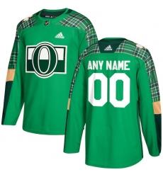 Men's Ottawa Senators adidas Green St. Patrick's Day Custom Practice Jersey