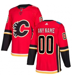 Men's Calgary Flames adidas Red Authentic Custom Jersey