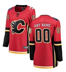 Women's Calgary Flames Fanatics Branded Red Home Breakaway Custom Jersey