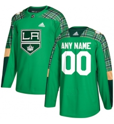 Men's Los Angeles Kings adidas Green St. Patrick's Day Custom Practice Jersey